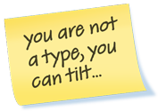 you are not a type, you can tilt